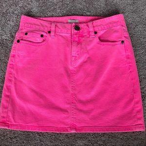 J.Crew Hot Pink Denim Mini Skirt